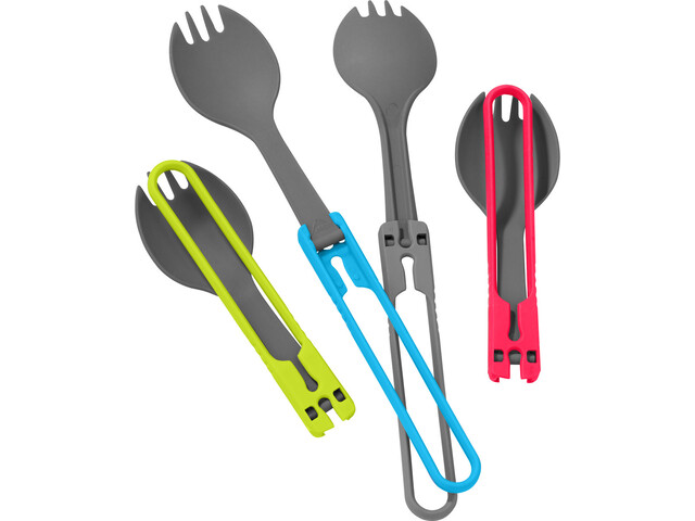 MSR Utensil Sporks Kit, red/gray/blue/green